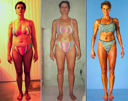 Becky Holman before, during and after X-treme Lean