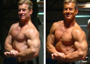 Steve Holman before and after chest