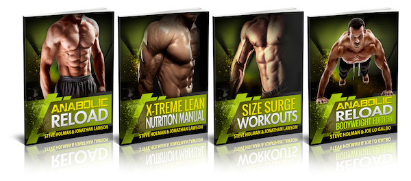 Anabolic Reload Bundle covers - Full Inch of New Arm Muscle in 3 Weeks
