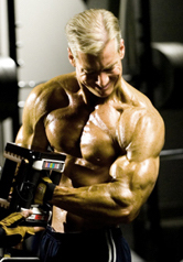 Steve Holman doing hammer curls - Old School, New Muscle Arm Size
