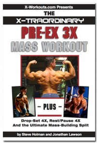 Pre-Ex 3X Mass Workout cover