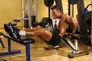 Jonathan Lawson bench dips - 10X Muscle Building Tips