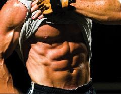 Steve Holman showing maximum abs