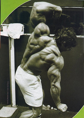 Mike Mentzer's back and trap mass