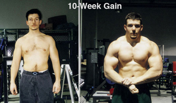 Jonathan Lawson before and after photos from 10-Week Size Surge - Home-Gym Training