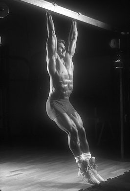 Hanging leg raises, bottom position - Plus-One Ab-Etching Method