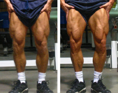 Jonathan Lawson's legs, before and after X-Rep experiment - More Mass, No Squats