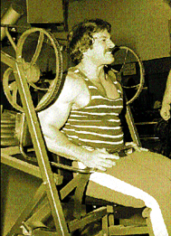Mike Mentzer on Nautilus pullover machine