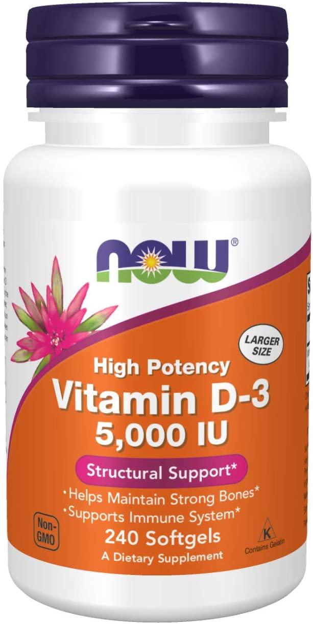 NOW Vitamin D-3 bottle
